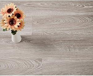 Diflart 15.sq.ft Vinyl Plank Flooring Click Locking 36x6 inch Lvt Flooring Waterproof Foam Back Rigid SPC Core Cantha Oak Wood Grain Finish