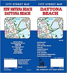 Map Of Florida Showing Daytona Beach.Daytona Beach Fl Street Map 9781897152249 Amazon Com Books