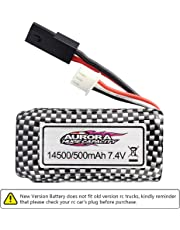 [New Plug] Hosim RC Car Replacement Battery 30-DJ02, 500mAh 7.4V Rechargeable Li-ion Battery for Hosim 1 16 Scale 9130 9136 9137 High Speed Remote Control RC Monster Truck Truggy