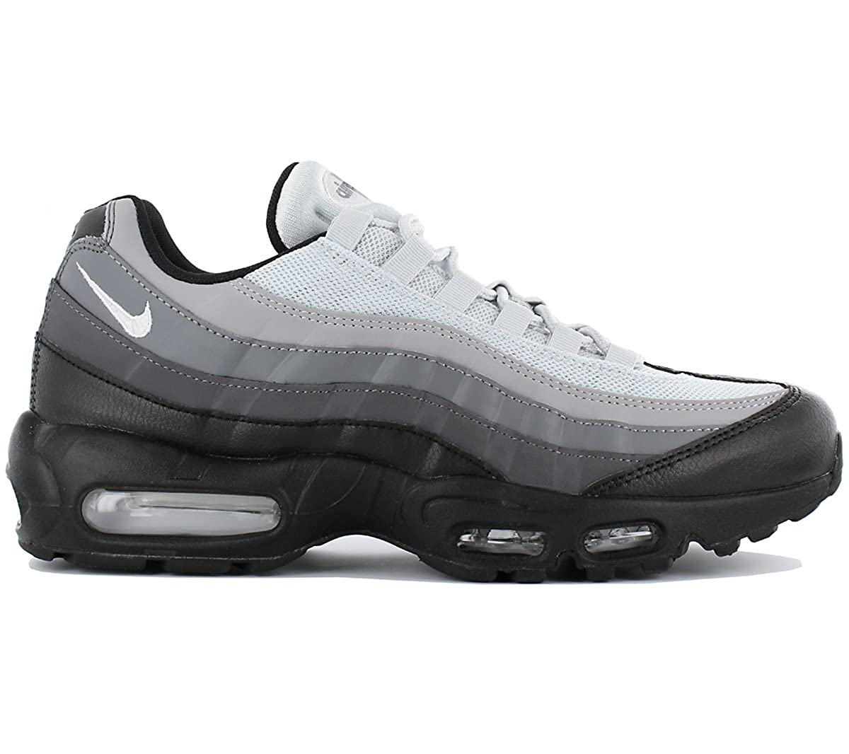 Nike Air Max 95 Essential Men Black Dark Grey Cool Grey White 749766-022  (10.5)  Buy Online at Low Prices in India - Amazon.in 04f8e28e50