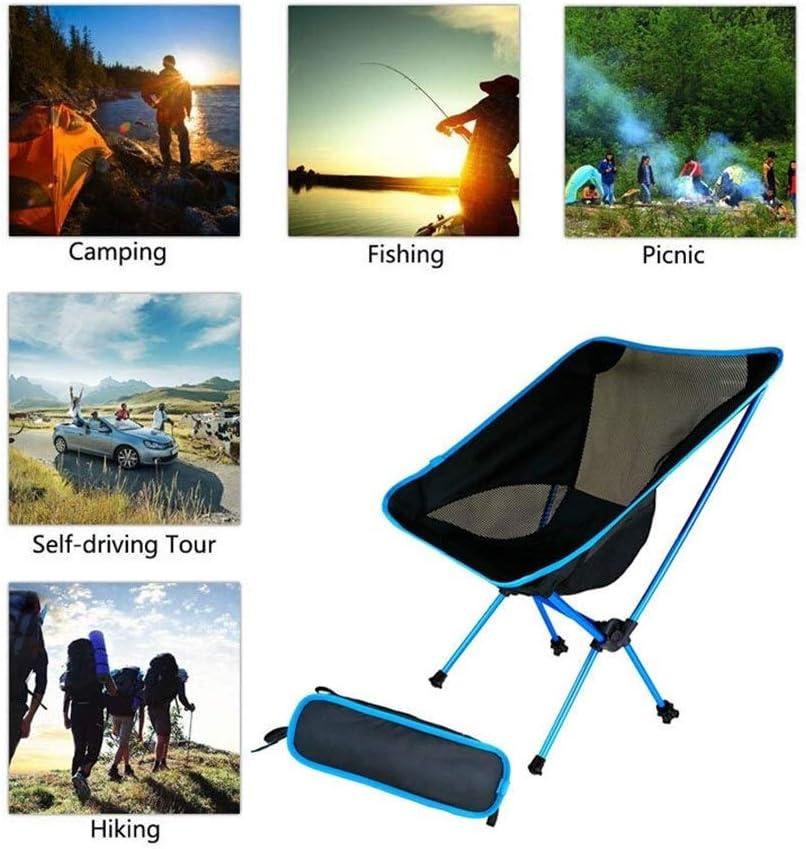 HUIJUNWENTI Reisen im Freien Klappstuhl Ultraleicht-Qualitäts-Outdoor-Camping-Stuhl Tragbarer Strand Wandern Picknick Sitz Angeln Werkzeuge Stuhl (Color : Orange) Red