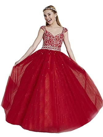 Amazoncom Baosai Girls Prom Party Ball Gowns Kids Beading Girls