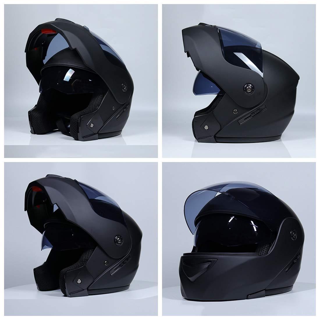 Offroad-Helm Vollgesichts Racing Style D/ämpfung//Langlebig Motocross Erwachsene Unisex Motorradhelm Doppelscheibe Winddicht//Sto/ßfest//Anti-UV,Black,S