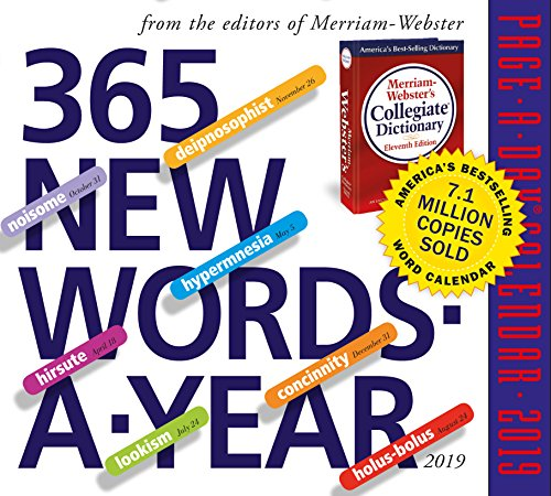 365 New Words-A-Year Page-A-Day Desk Calendar 2019 [6