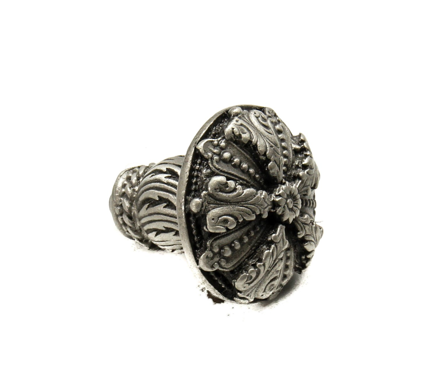 Carpe Diem Hardware 1060-11 Acanthus Med Knob Satin Renaissance Style with Feather Scroll Feet 1-5//16-Inch