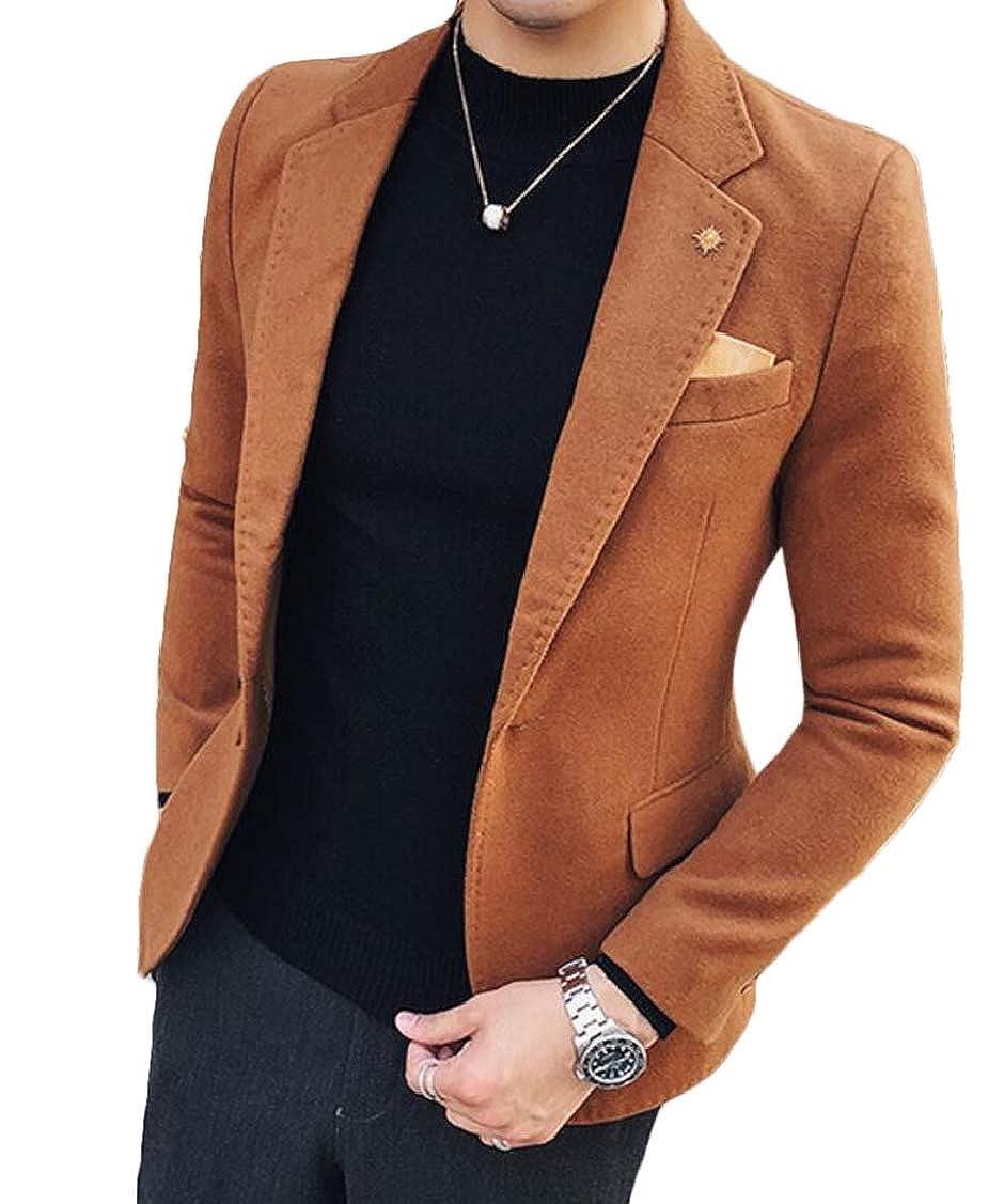 Spirio Mens Business One Button Woolen Casual Winter Blazer Jackets