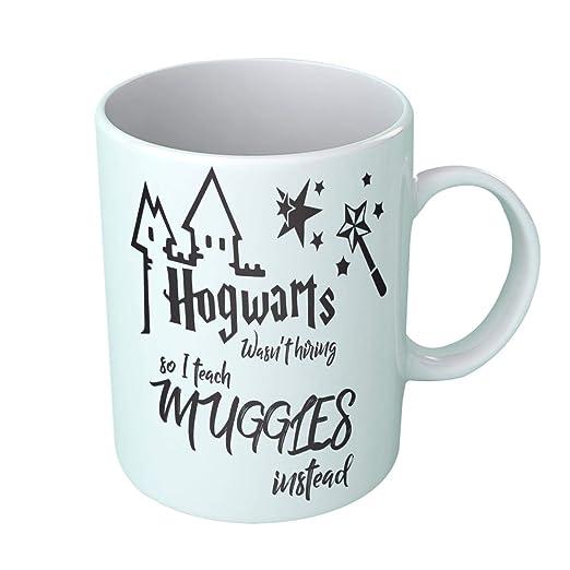Taza divertida de Harry Potter con diseño de Hogwarts ...