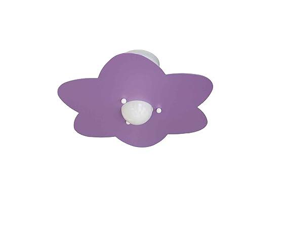 Plafoniera Per Cameretta : Plafoniera fiore glicine per camerette stanzette bambini amazon