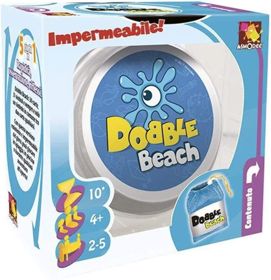 Asmodee Dobble Beach DOBBEAC01IT - Juego de Mesa Impermeable ...