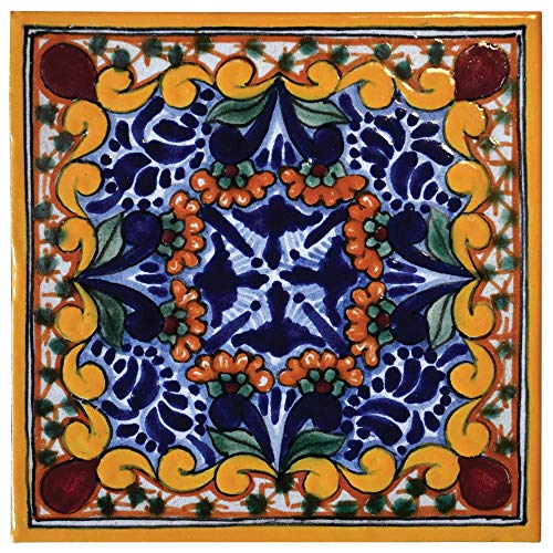 Hand Painted Ceramic Talavera Tile Coasters 4