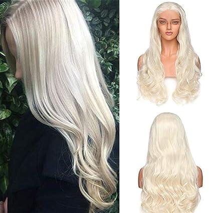 Lace Front Wig Pelucas Rubias Rizadas Largas Pelo Sintético Peluca de Encaje Frontal Se Ven Naturales
