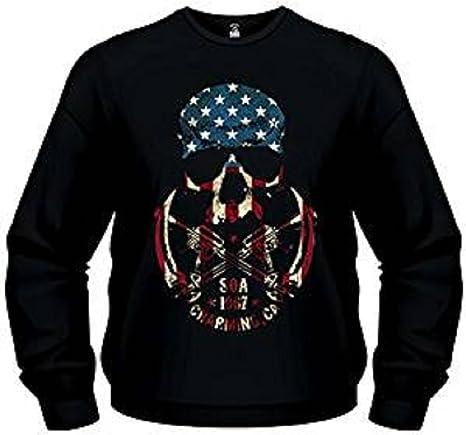 Sons Of Anarchy Skull Logo Sudadera tamaño L – Motorcycle Club Redwood Original Sweater Samcro