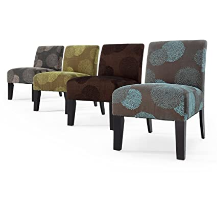 Deco Sunflower Fabric Slipper Chair Color: Charcoal Sunflower