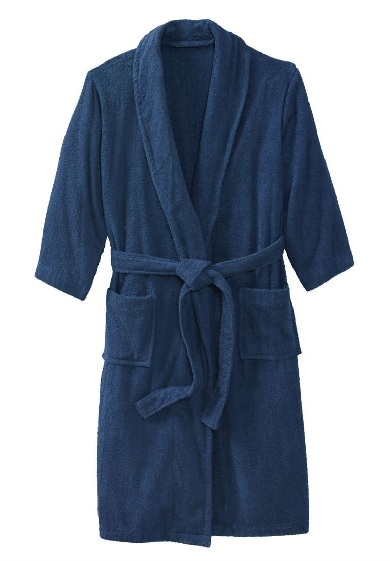 KingSize Men's Big & Tall Terry Bathrobe With Pockets, Crown Blue Big-3Xl/4X