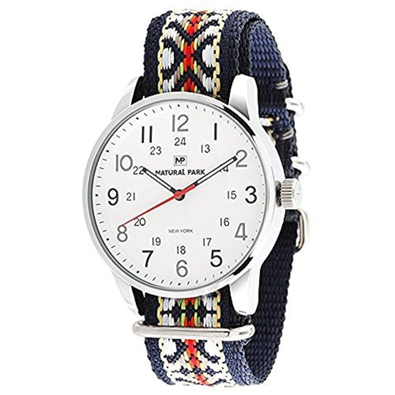 Herren und Damen Wasserdicht Business Casual Armbanduhr Japanisches Quarz-Nylongurt