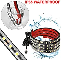 GTP 2X 60 LED Truck Bed Cargo Light Strip Bar Unloading Work Lighting Kit with ON//OFF Switch 2-way Splitter Waterproof for Ford Dodge Chevy GMC Toyota Nissan Pickup Van RV Trailer Camper Boat 23AA