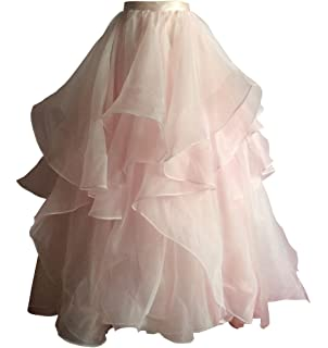 flowerry Tiered Ruffle Organza Skirt Detachable Wedding Bridal Skirt Ceremony Reception Engagement Halloween Ball Gown