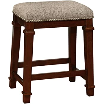 Amazon Com Linon Kennedy Backless Tweed Counter Stool