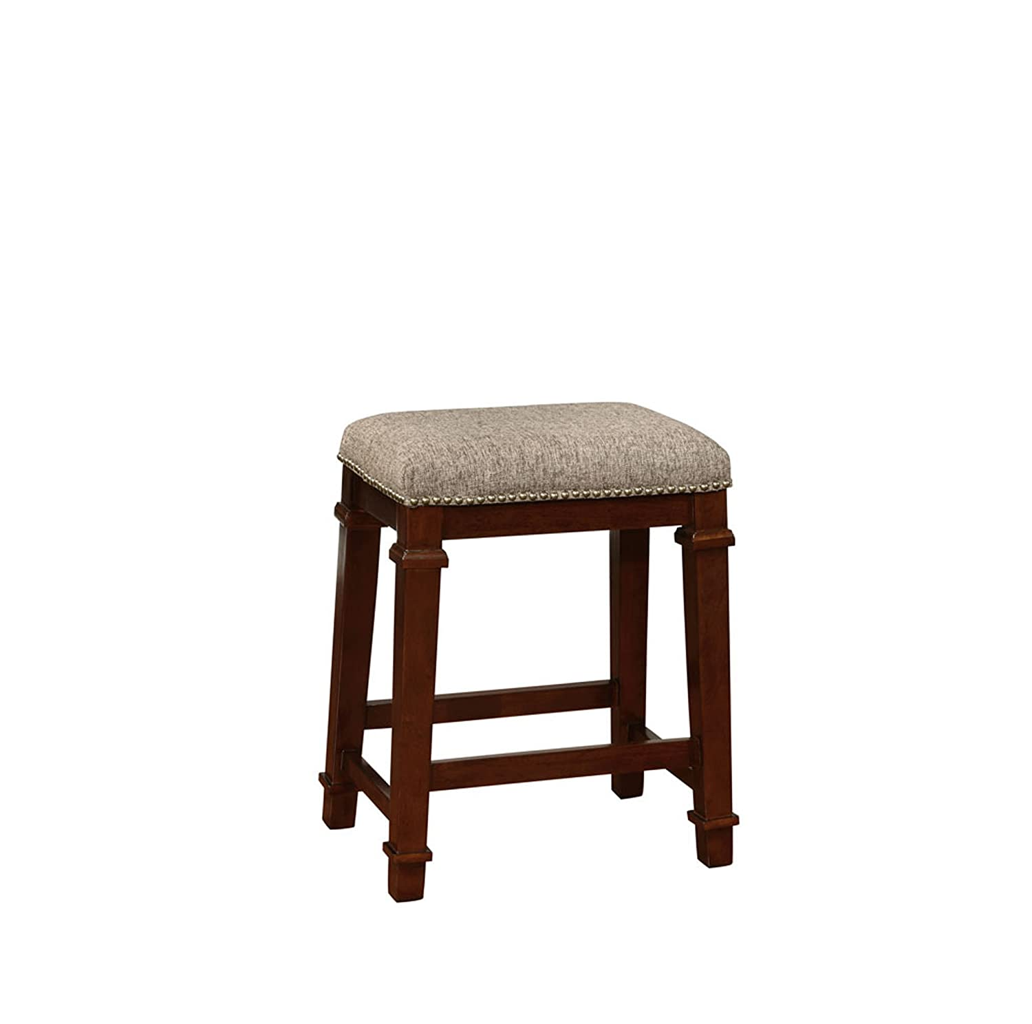 Linon 558121TWD01U Kennedy Backless Tweed, Brown Counter Stool,