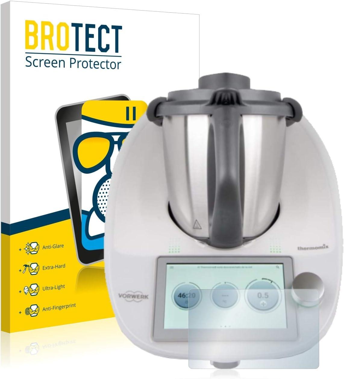 BROTECT Protector Pantalla Cristal Mate Compatible con Vorwerk Thermomix TM6 Protector Pantalla Anti-Reflejos Vidrio, AirGlass: Amazon.es: Electrónica
