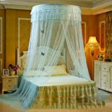 European princess dome mosquito net, Ceiling Hanging Court Double bed canopy -D 180x220cm(71x87inch)