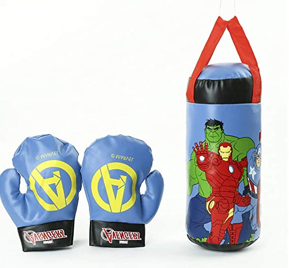 Avengers Spiderman Boxing Gloves Sandbag Set Hanging Stuffed Toy Kids Xmas Gifts