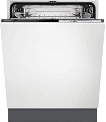 Zanussi ZDT21006FA 60cm Built-In Fully Integrated, Standard Dishwasher, Foldable Cup Shelves, White - 1 Year Warranty