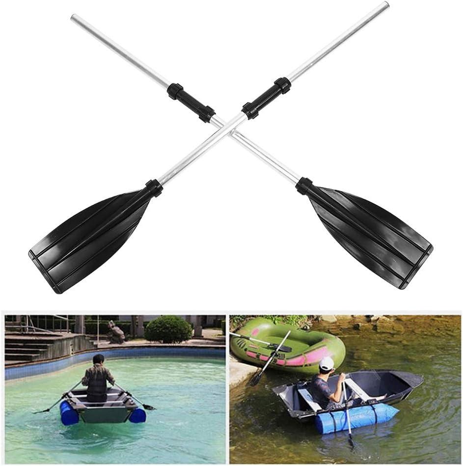 Qiilu Remos para barcos de 210 cm//82,7 pulgadas remos desmontables a flote Palas de aleaci/ón de aluminio Port/átil de doble extremo para canoa de kayak en balsa