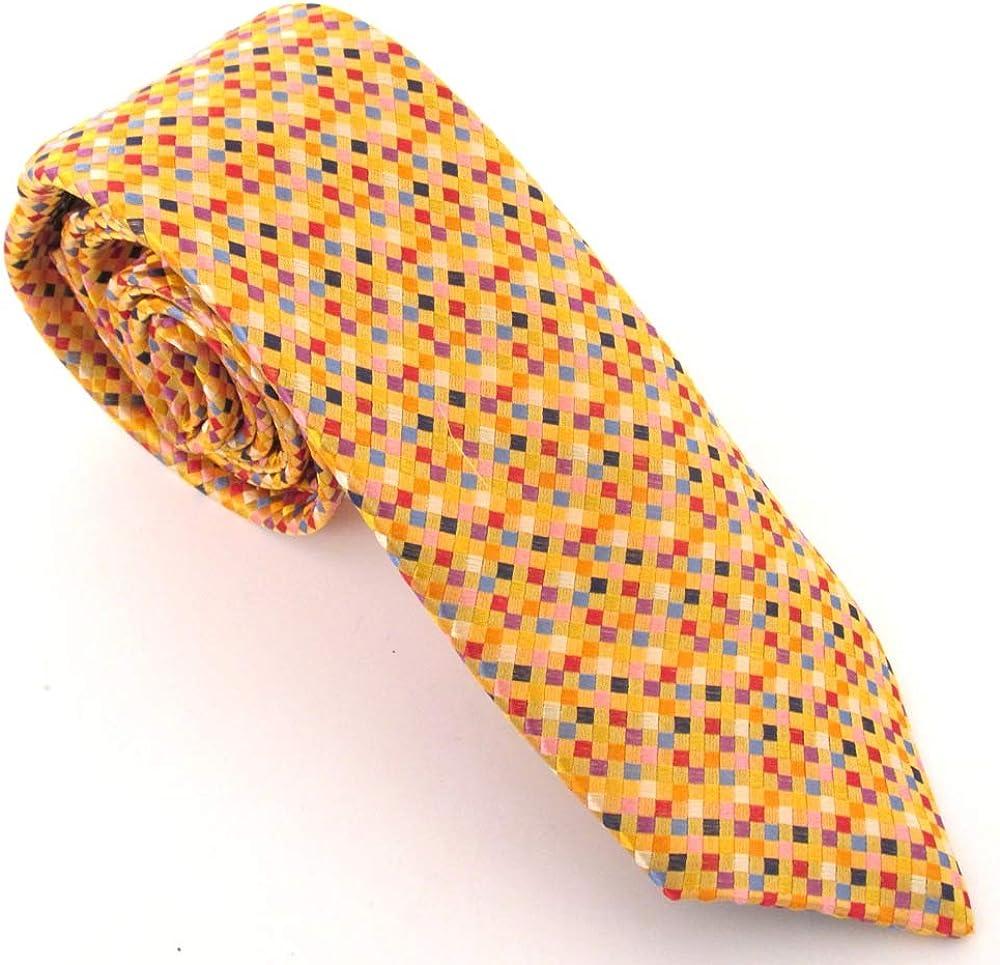 Van Buck - Corbata de seda cuadrada (tamaño pequeño), color dorado ...