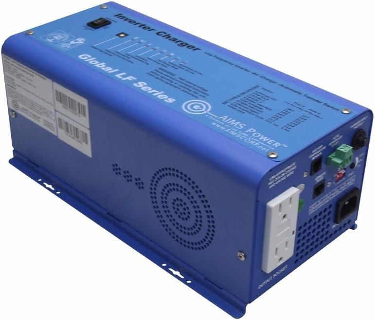 AIMS Power 600 Watt Pure Sine Inverter Charger 12V