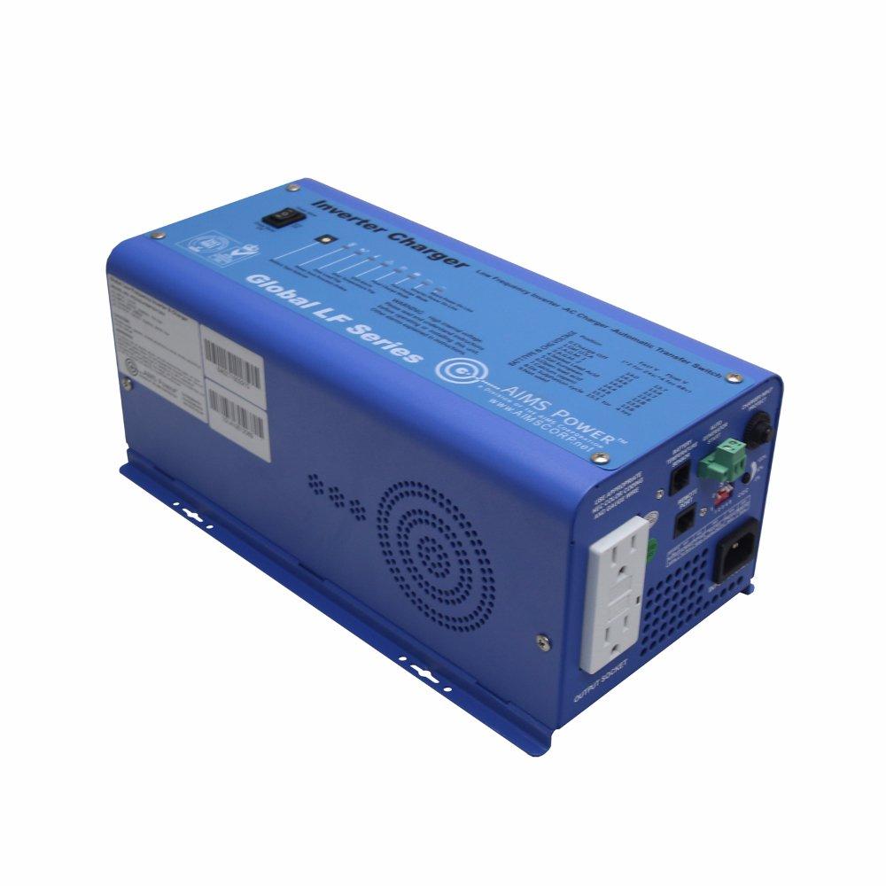 AIMS Power 600 Watt Pure Sine Inverter Charger 12V ETL Certified to UL 458