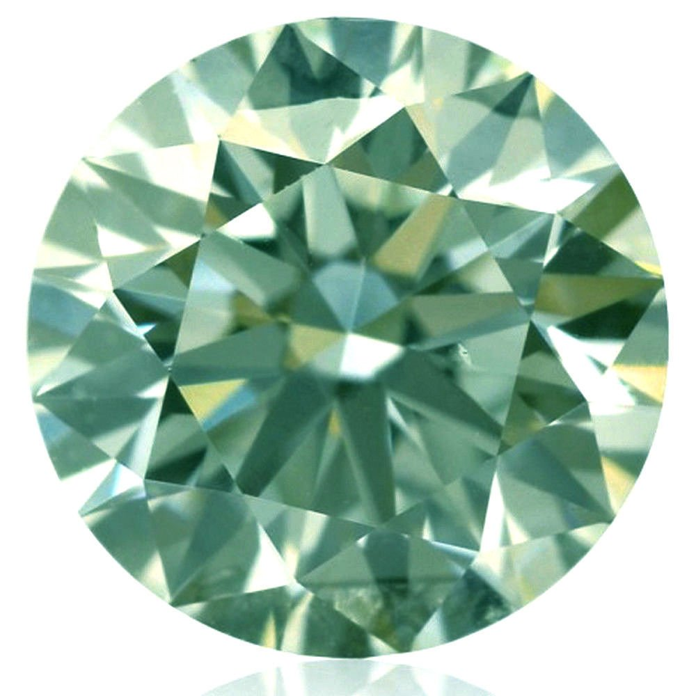 RINGJEWEL 2.26 ct 8.65 MM VVS1 Round Cut Loose Real Moissanite Use 4 Pendant/Ring Off White Light Green Color Stone