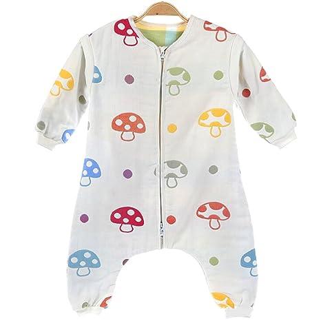 Bebé saco de dormir 100% algodón Infantil (portátil, tamaño pequeño Mushroom