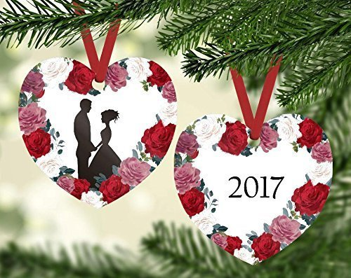 Bride and Groom Silhouette Christmas Ornament - Our First Christmas as Mr.  and Mrs. - Amazon.com: Bride And Groom Silhouette Christmas Ornament - Our