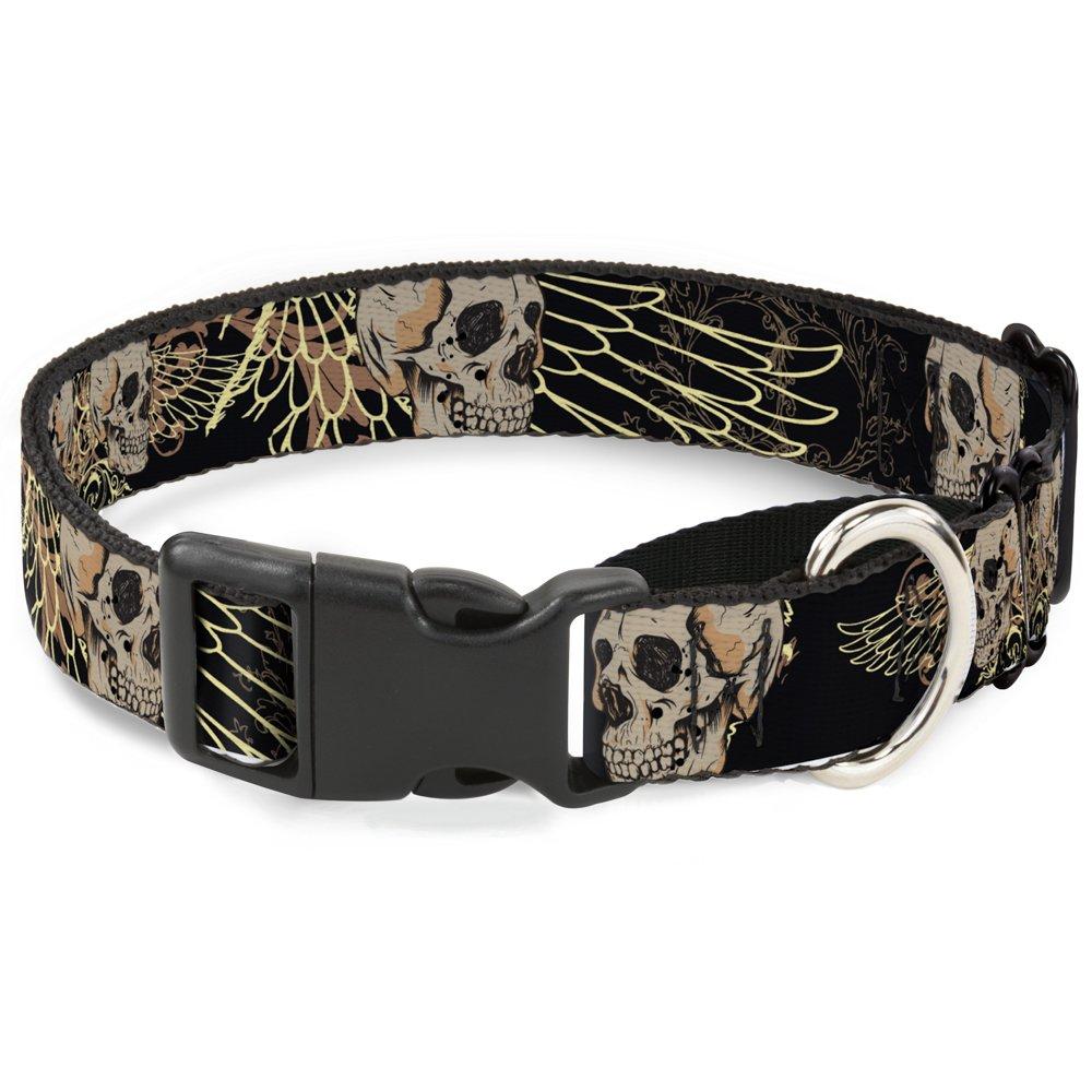 Buckle-Down Bd Die Hard Skull 01 Martingale Dog Collar, 1  Wide-Fits 15-26  Neck-Large