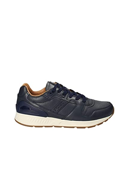 821d9ffe2a45 POLO RALPH LAUREN Train 100 Sneakers Blue Leather  Amazon.co.uk ...