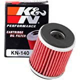 K&N Motorcycle Oil Filter: High Performance, Premium, Designed to be used with Synthetic or Conventional Oils: Fits Select Ya