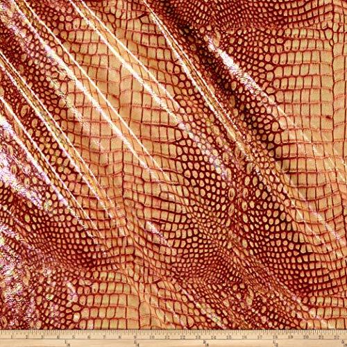 Ben Textiles Inc. Jungle Alligator Spandex Knit Rose Gold ROSE GOLD, Fabric by the - Alligator Rose