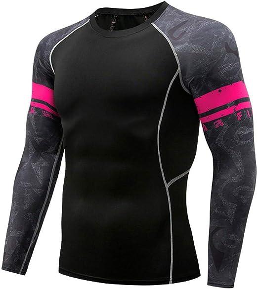 LEXUPA Pack Men's Compression Shirt Functional Shirt Long Sleeve Short Sleeve Sportshirt Running Shirt Men
