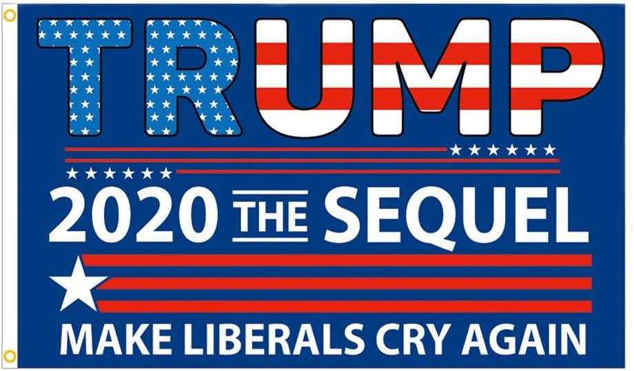 Trump 2020 Flag MAGA 3X5Ft The SEQUEL Make Communists Cry Again Banner