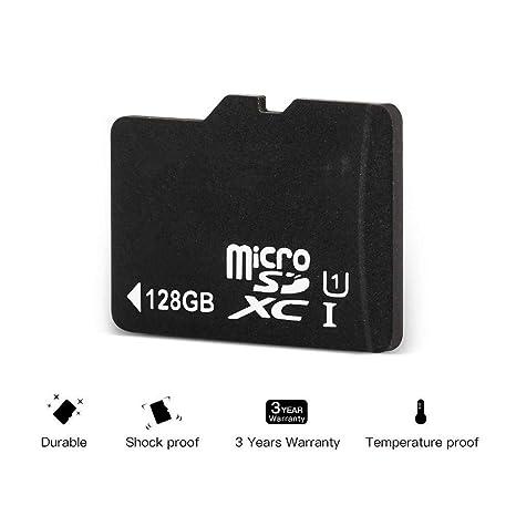 Tarjeta de Memoria Micro SD de 128 GB de Alta Velocidad Clase 10 Micro SD SDXC con Adaptador SD