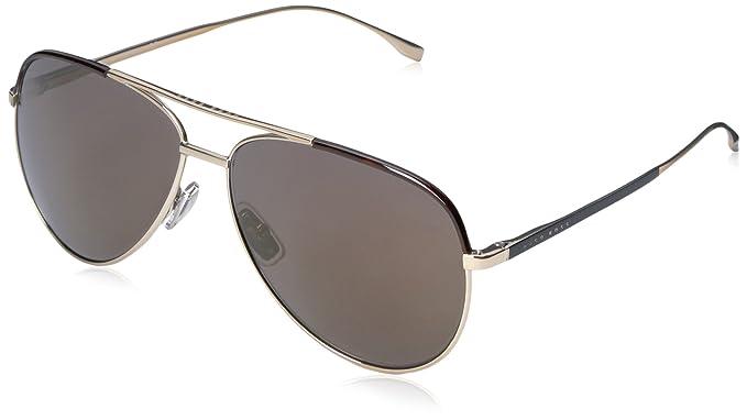 BOSS Hugo Hombre 0782/S HJ 0I5 Gafas de sol, Negro (Lt Gold ...
