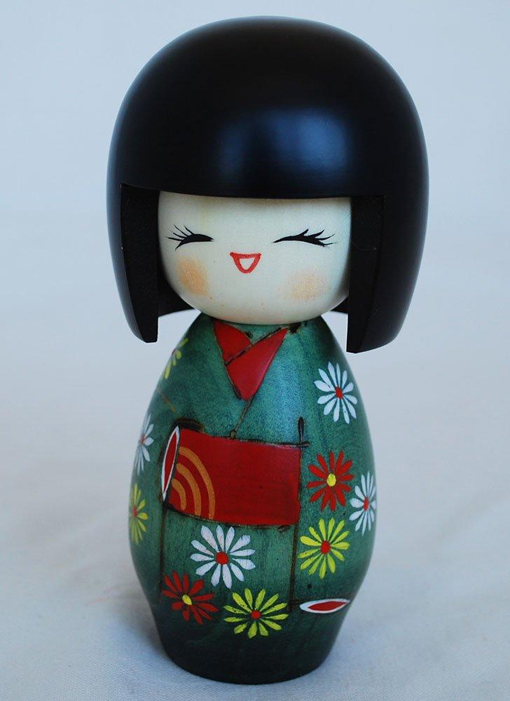 giapponese Kokeshi Doll –  Handmade in Japan –  Hanafubuki –  caduta fiori di ciliegio Oriental Direct Ltd