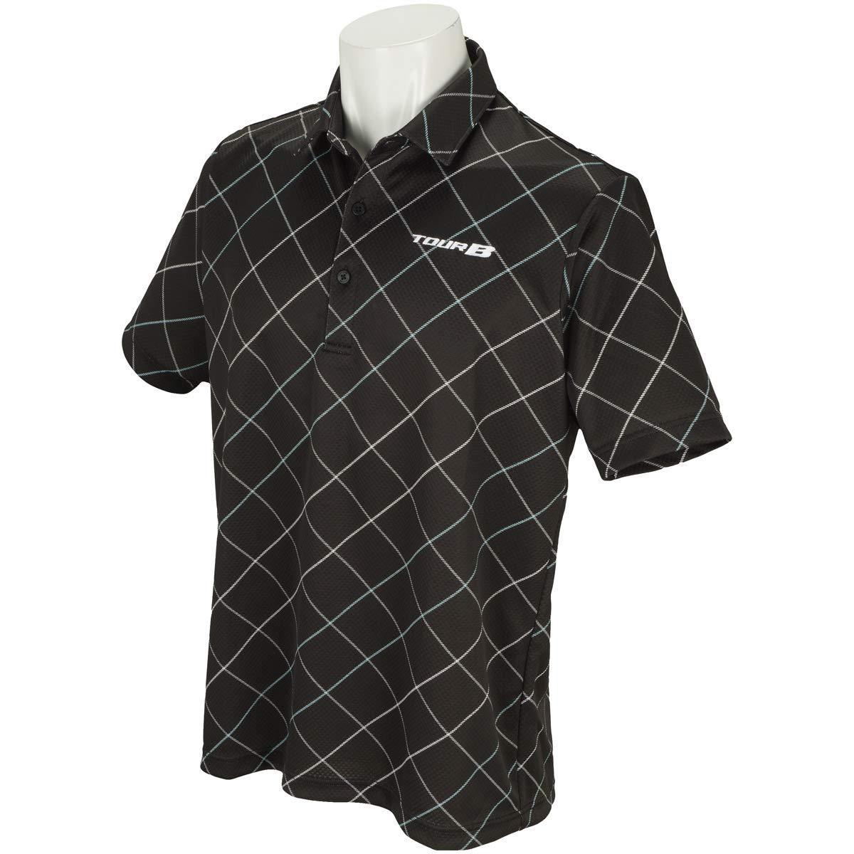 ブリヂストン TOUR B 半袖シャツポロシャツ 半袖ポロシャツ ブラック 3L   B07PJ3RN59