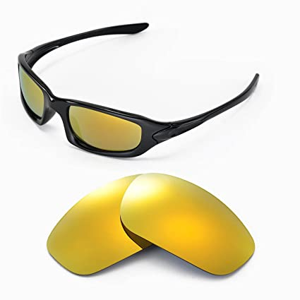 075d10e415 Walleva Replacement Lenses for Oakley Fives 4.0 Sunglasses - Multiple  Options Available (24K Gold Mirror