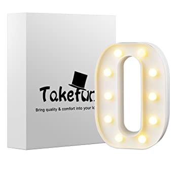 takefuns led letters lights alphabet marquee decoration light up sign battery operated for party wedding receptions
