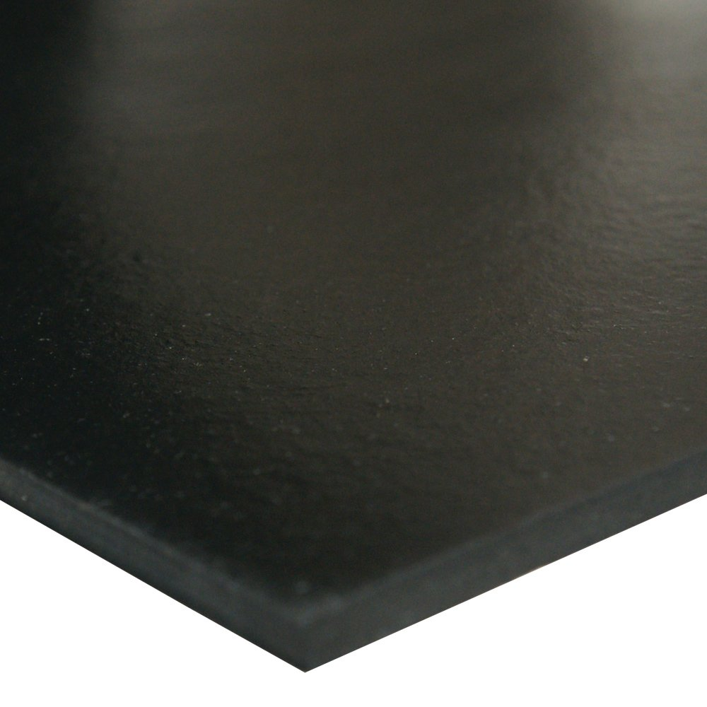 Silicone Sheet 24 Length No Backing 50A Durometer Smooth Finish Black 0.062 Thickness 36 Width 24 Length Rubber-Call 36 Width Industrial 36-005B-062-036-024 0.062 Thickness