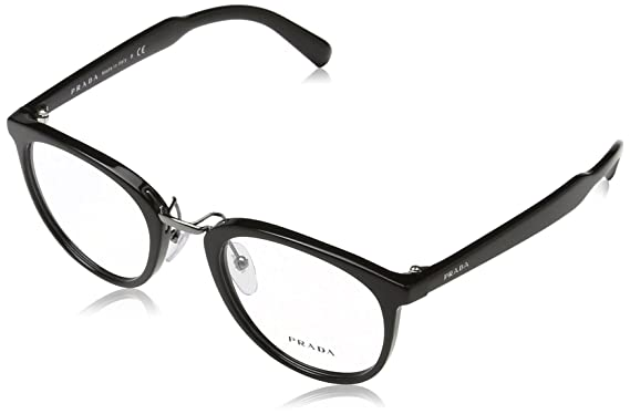 5baa915778c Image Unavailable. Image not available for. Color  Prada PR03TV Eyeglass  Frames 1AB1O1-50 - Black ...