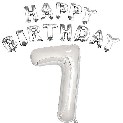 Amazon Silver 7th Birthday Balloons Kit Girl Or Boy First