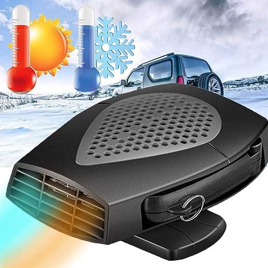 Calentador Coche Portátil 12V /24V 150W Calefactor 2 modos Viento ...